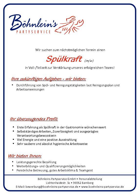 Spülkraft Böhnlein Partyservice