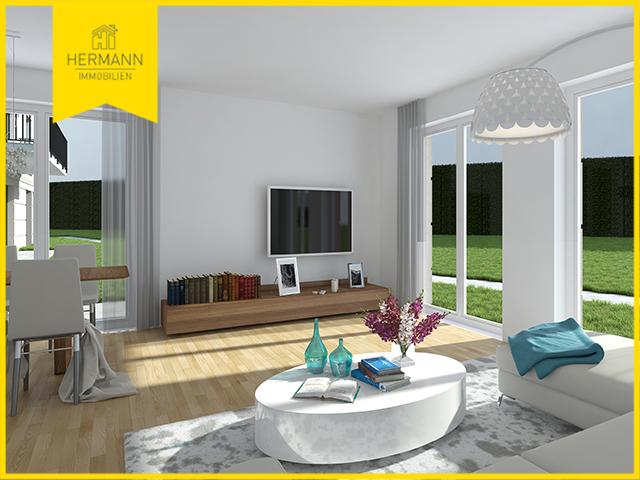 4-Zimmer-Neubau-Eigentumswohnung mit 3 Terrassen und Gartenanteil