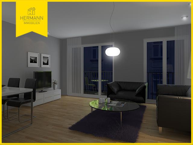 2-Zimmer-Neubau-Eigentumswohnung mit Balkon