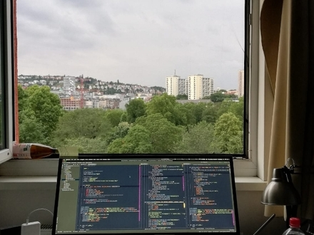 A student WG by the park with a good view and location (15mins away from Hbf by walking) also close to 2 Ubahn stations.