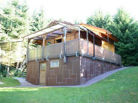 Großer Wald ca. 1,8 ha mit schöne Hütte in Frankreich, ca. 120 km von Karlsruhe