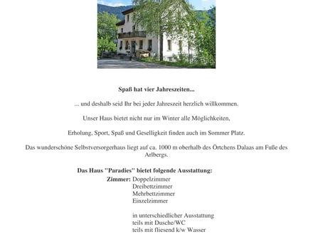 Gästehaus für Schi. oder Alpenvereein