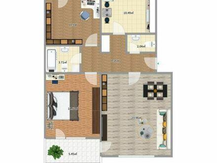 Vollständig renovierte 3-Zimmer-Wohnung mit Balkon und EBK in Freiburg - Zähringen