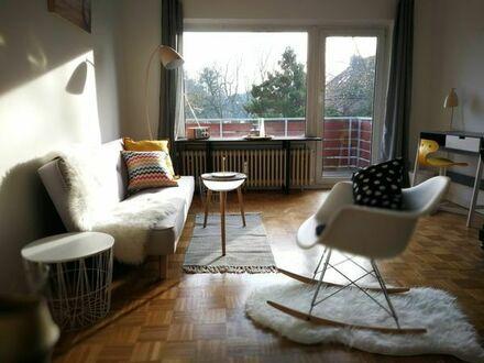 Wohnen auf Zeit, Voll möbliertes Apartment, Singlewohnung, 42qm, Balkon, ruhige Lage
