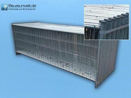 10x Bauzaun 3,50 m x 1,20 m verzinkt mit Plastik-Abdeckkappen inkl. MwSt.