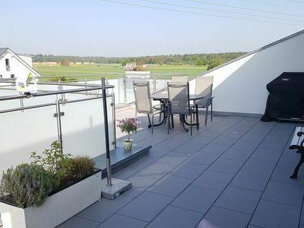 Maisonette-Wohnung (ca. 135 qm, 4 Zimmer) mit Dachterrasse ab 01.10.