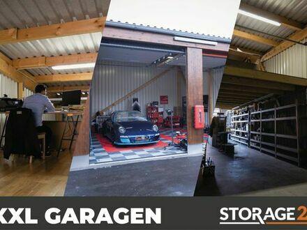 Storage24 vermietet XXL-Garagen als Arbeits- & Lagerfläche in verschiedenen Größen.