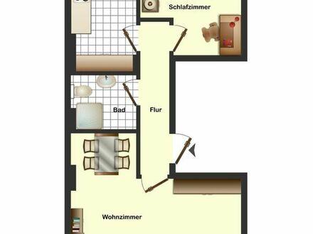 Zentrale und ruhige Lage: helle 2-Zi.-Whg., 2. OG, WESEL ZENTRUM / Mietwohnung