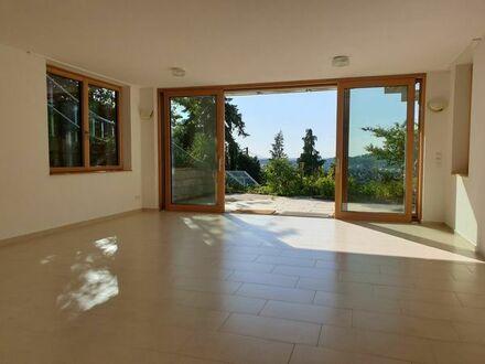 herrliche Aussicht, große Terrasse, großzügiges Wohnzimmer, teilmöbliert