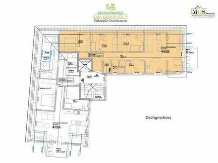 4 Zi. DG-Wohnung mit Aufzug, Balkon und Blick ins Grüne - WHG 6