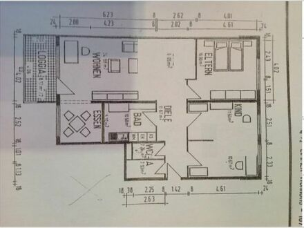 Moderne, sanierte 4-Zimmer-Wohnung mit Balkon & EBK in Hockenheim
