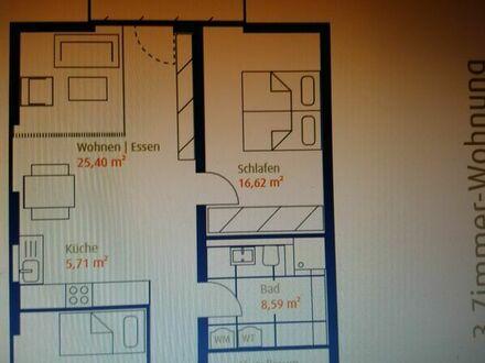 Erstbezug einer 3 Zimmer-Wohnung in FT West