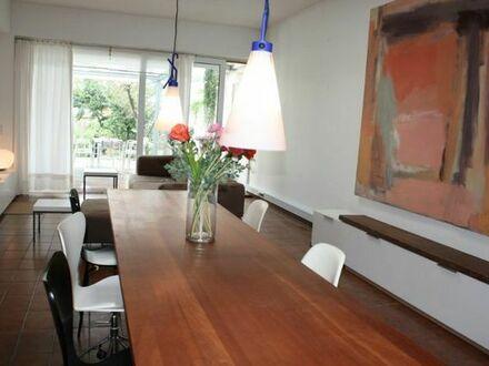 Bonn-Zentrum: Möblierte Terrassenwohnung mit Garten + Garage zu vermieten ab Sept 2018