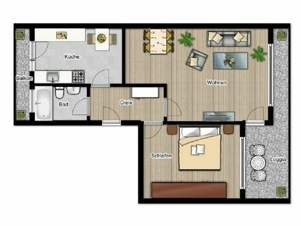 Helle 2-Zimmer Eigentumswohnung mit gutem Schnitt