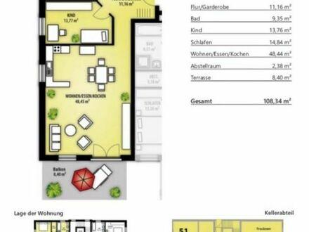 Attraktive 3 Zimmer Neubauwohnung