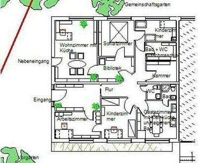 145qm Erdgeschoßwohnung in Freising mit Gartenbenutzung und Einliegerappartement