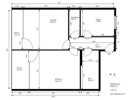 Ingolstadt - Schöne 2 ZKB Wohnung in Ingolstadt an Kapitalanleger zu verkaufen