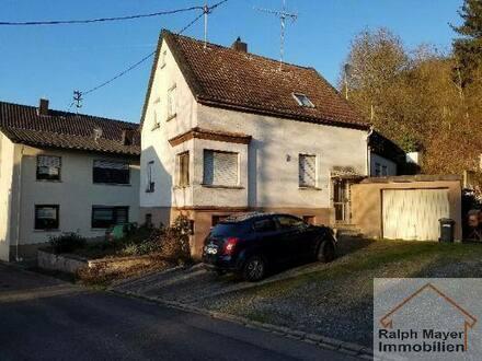 Idar-Oberstein - RESERVIERT ... Nähe GLOBUS: günsiges EFH mit Garage und kleinem Garten im Stadtteil Weierbach