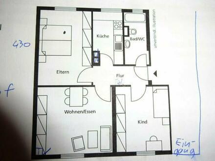 Heilbronn - Wohnung PROVISIONSFREI HN ca 59 qm 3 Zimmer mit Terrasse EBK TLB