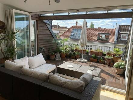 Berlin - Ohne Makler! 7,5-Zi-Penthouse-Maisonette-Wohnung mit Terrasse in Ku´Damm-Seitenstraße