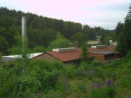 Marktredwitz - Riesenflächen zum kleinen Preis | Anwesen mit Halle, Büro, Wasserkraftwerk in der Oberpfalz