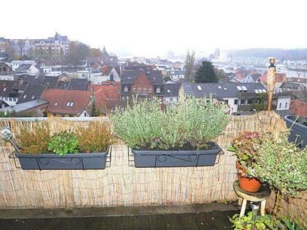 Flensburg - Eigentumswohnung in Toplage von Flensburg mit Blick über die Altstadt und den Hafen