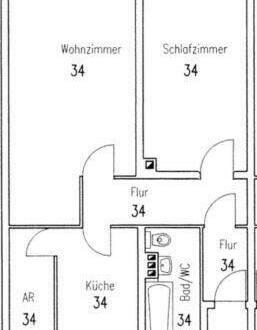 Nürnberg - Südoststadt - freie 2-Zimmer Wohnung voll möbliert in Nürnberg in Bauernfeind