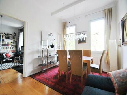 Frankfurt am Main - Mit Stil und Klasse - Frankfurt-Bornheim: 4,5-Zimmer-Altbauwohnung mit Balkon.