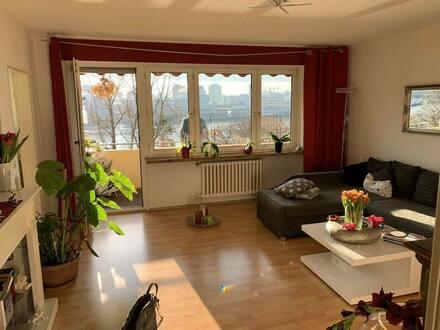 Lörrach - Grenznahe 3-Zimmerwohnung mit Rheinblick