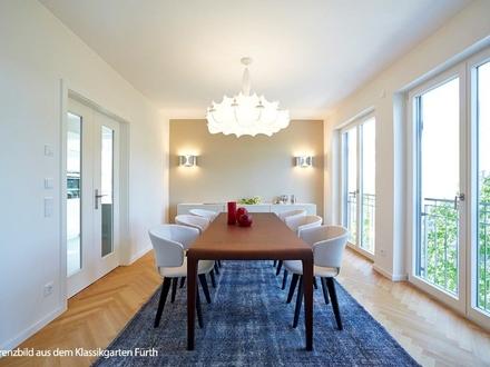 Erlangen - Hier blüht das Leben auf 90 m²! Moderne, citynahe 2-Zi.-Balkonwohnung mit offener Küche und Gäste-WC
