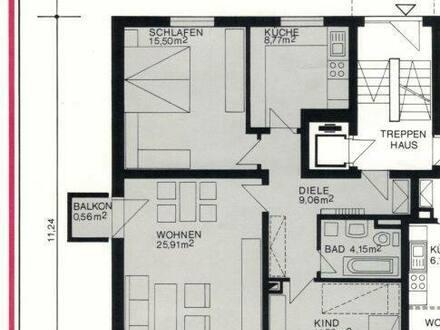 Worms - Schöne 3-Zimmer-Hochparterre-Wohnung mit Balkon in Worms