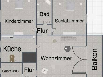 Bergrheinfeld - Erstbezug nach Sanierung mit Balkon: exklusive 3-Zimmer-Erdgeschosswohnung in Bergrheinfeld