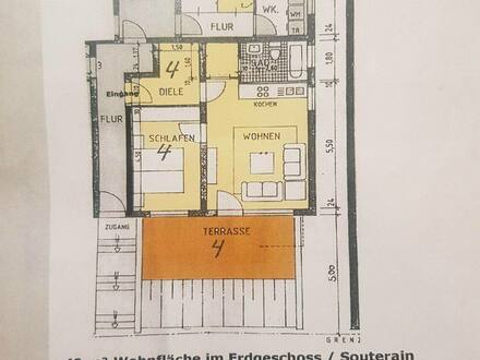 Bergisch Gladbach - 2 Zimmer Wohnung 49m² in Schildgen