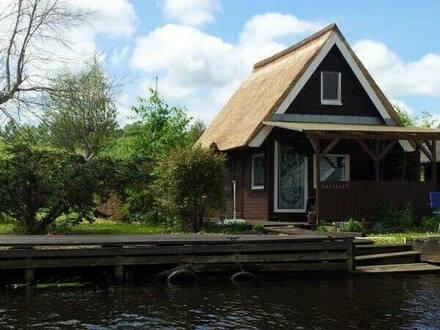 Nordvorpommern - Marlow - Bootshaus Ferienhaus Wasser freistehend Eigentumsland ohne Makler