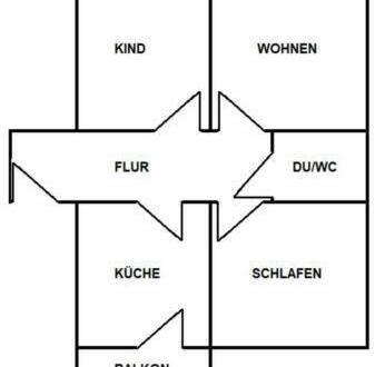 Dresden - Innere Altstadt - Sanierte 3-Zimmer-Wohnung mit Balkon in Dresden (Friedrichstadt)
