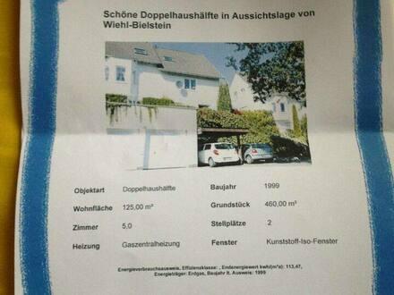 Wiehl - Schöne Doppelhaushälfte in Aussichtslage von Wiehl Bielstein