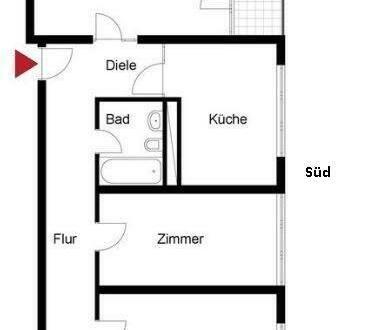 Ludwigshafen am Rhein - Gepflegte 3-Zimmer-Wohnung mit Balkon und Einbauküche in Ludwigshafen am Rhein