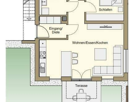 Marktheidenfeld - 2-Zimmer-Neubauwohnung in Marktheidenfeld Friedenstrasse 5a