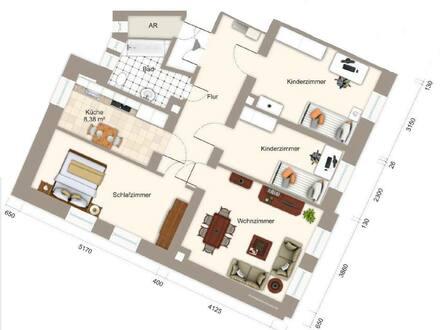 Aue - renovierte 4 Zimmer Wohnung in Aue
