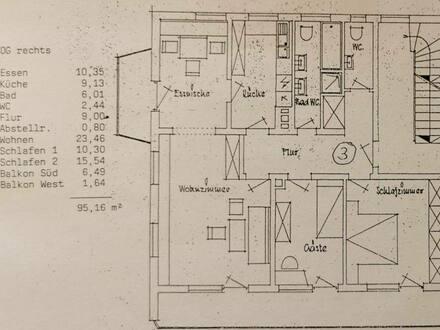 Bad Wörishofen - Lichtdurchflutete, ruhige, großzügige 4-Zimmer-Wohnung in zentraler Top-Lage