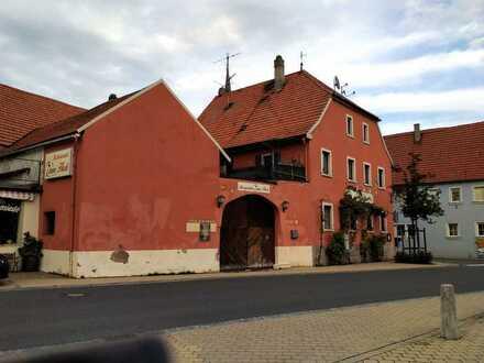 Großlangheim - Großlangheim KT Landgasthaus mit Biergarten&Wohnung zu verkaufen