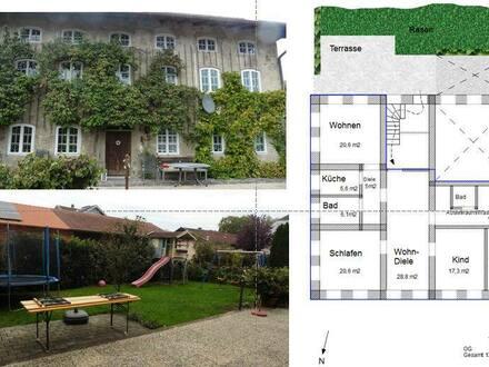 Traunreut - Sanierte 4-Zimmer OG Wohnung mit Garten in Weisbrunn/Traunreut