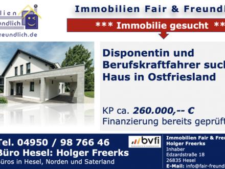 Holtland - * Disponentin und Berufskraftfahrer mit 2 Kindern suchen Haus ab ca. 120 m², bitte freistehend, bis ca. 160.…