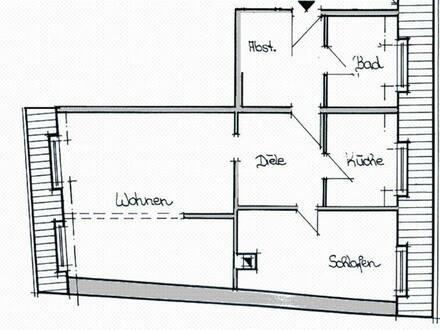 Naumburg (Saale) - große 2-Raumwohnung
