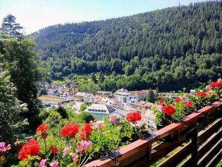 Bad Wildbad - Attraktive 2-Zimmer-Wohnung mit 2 Balkonen in Bad Wildbad (Calmbach)