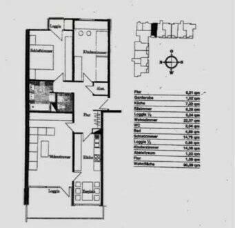 Heidelberg - Sanierte 3-Zimmer-Wohnung - mit 2 Balkon