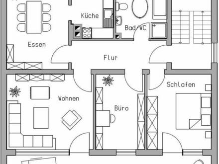 Windischeschenbach - Renovierte 4-Zimmer Wohnung mit Einbauküche