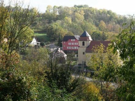 Schrozberg - Von Privat, Zweifamilienhaus mit Gewerberäume im Erdgeschoss in idyllischer Lage