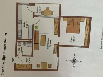 München - prov.-frei. gute geschnittene und helle 2 Zimmer -Wohnung im 1 Obergeschoss