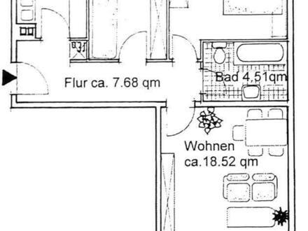 Wiesbaden - Helle 3-Zimmer Whg mit Balkon in ruhiger optimaler Stadtrand-Lage in Wiesbaden Bierstadt